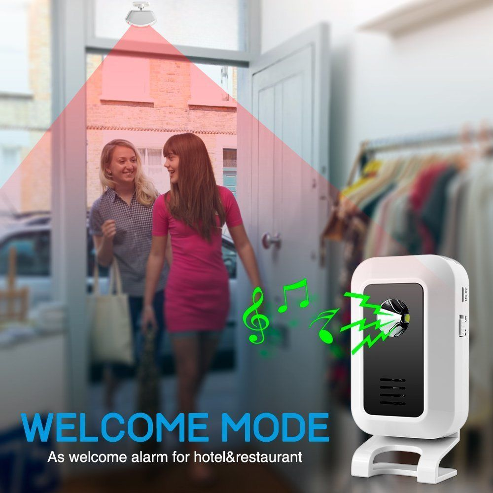 KERUI Wireless Split Welcome Motion Sensor Alert Alarm ...
