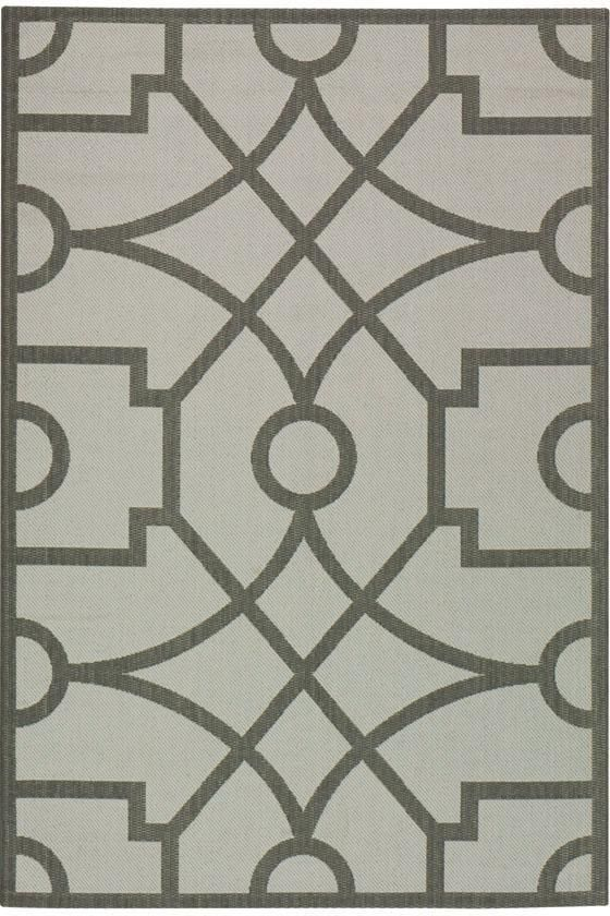 Martha Living Fretwork All Weather Area Rug Outdoor Rugs Synthetic