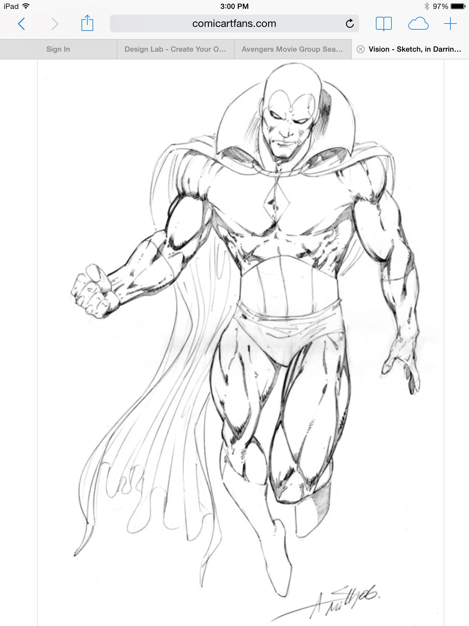 Vision Sketch By Andy Smith Looking Tough Desenhos