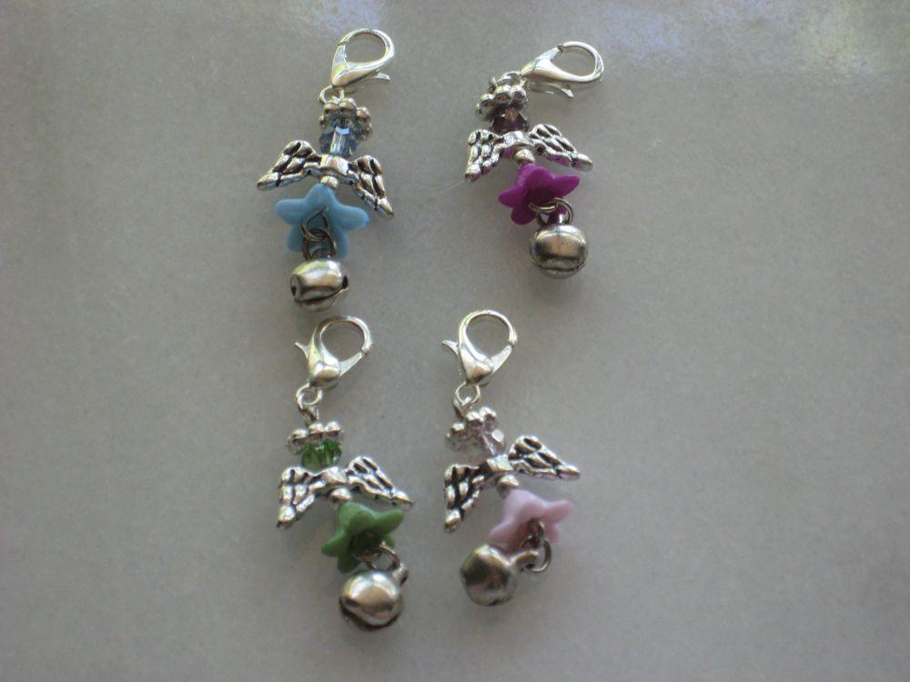 4 handmade angel bell charm lot #Handmade