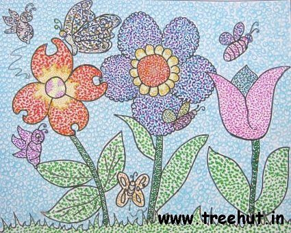 Pointillism Flowers Pointillism Pinterest Pointillism - schöne schlafzimmer farben