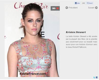 O site Be.com fez uma lista com as 100 mulheres mais bonitas do mundo. E adivinhem só quem não poderia ficar de fora? Kristen Stewart! A bela Kristen Stewart tem sido invejada pela maioria das garotas do mundo, não só por sua beleza, mas também por sua história de amor com o belo Robert Pattinson.