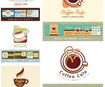 Coffee Cup Business Cards Vector A Collection For Moms Book - Coffee business card template free