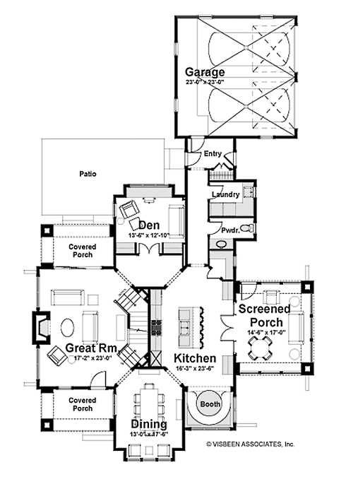 Standout Stone Cottage Plans Compact To Capacious Cottage Plan House Plans Cottage House Plans