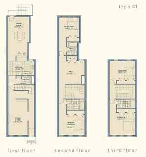 Community Architect Anatomy Of The Baltimore Rowhouse House Floor Plans Narrow House Plans Simple House Plans