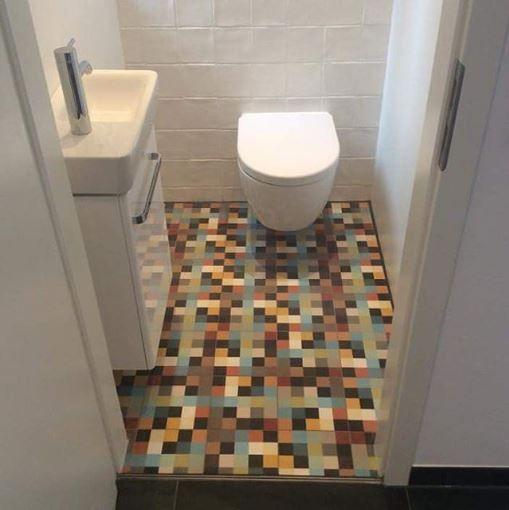 bunte zementfliesen i badgestaltung i steingut i wandfliesen i, Hause ideen