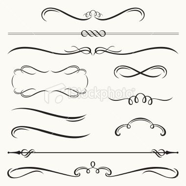 Vector illustration of decorative border and frame set Free - border templates for word