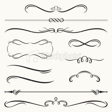 Vector illustration of decorative border and frame set