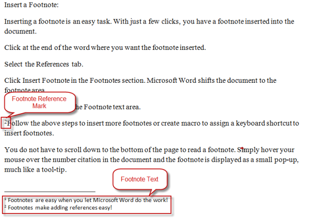 How To Insert Footnotes In A Word Document Words End Of The Word Insert