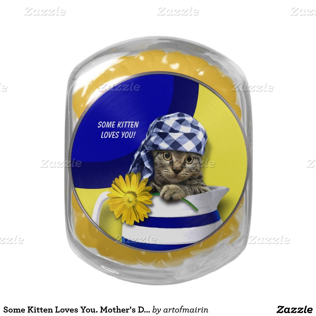 Some Kitten Loves You Mother S Day Gift Candy Jelly Belly Candy Tin Zazzle Com