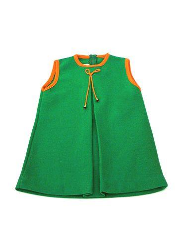 premium selection available best price Vintage green A-line dress : products - Petite Boutique | Kids ...
