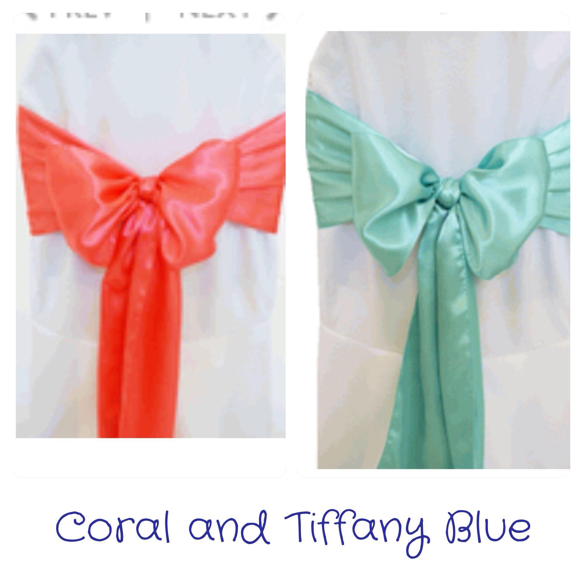 My wedding colors! Coral and Tiffany Blue (Aqua).   Wedding Ideas ...