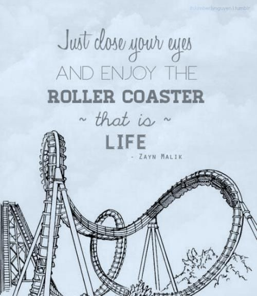 Just Close Your Eyes And Enjoy The Roller Coaster That Is Life