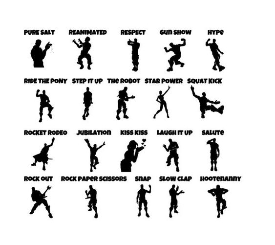 Fortnite Dances Svg Google Search Silhouette Diy Birthday Cards For Boys Dance Poster