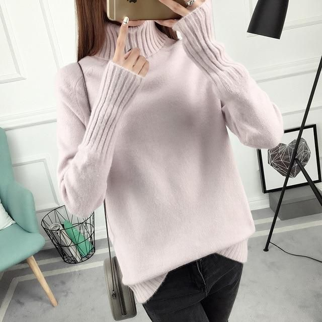 Autumn winter loose pullover female cardigans new korean