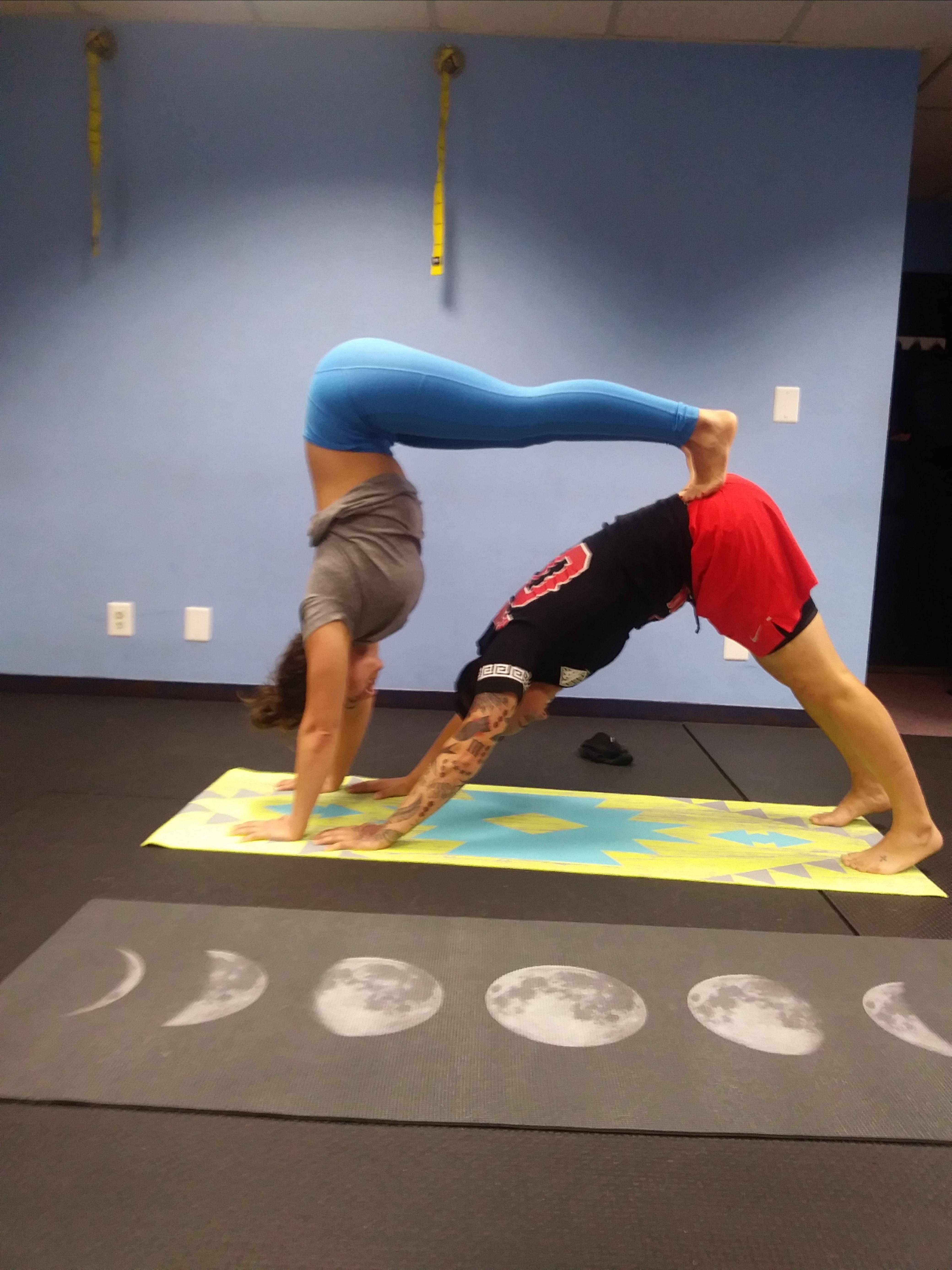 Fun Handstands Acro Yoga Improve Body Image Fitness Studio