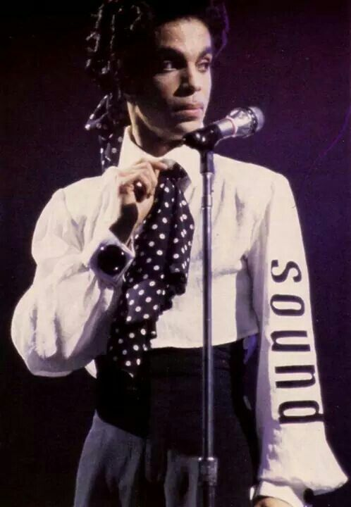 Prince Lovesexy Tour - 'Minneapolis' is on his right sleeve