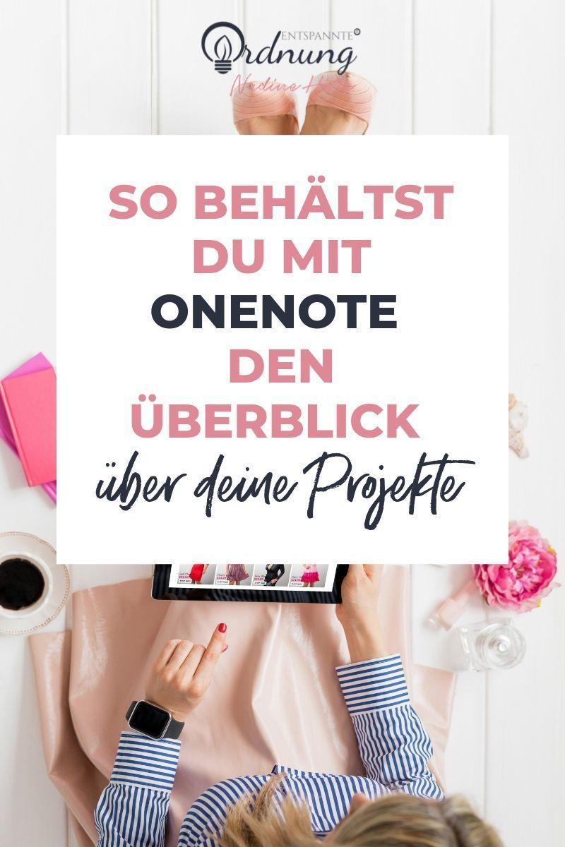 So behältst du mit OneNote den Überblick über deine Projekte! OneNote Tipps zu den coolsten Funktionen, wie du OneNote deutsch ganz einfach einrichtest & dir deine OneNote Vorlagen erstellst. Inklusive kostenlosem Video Tutorial. #onenote #ordnung #papierkram