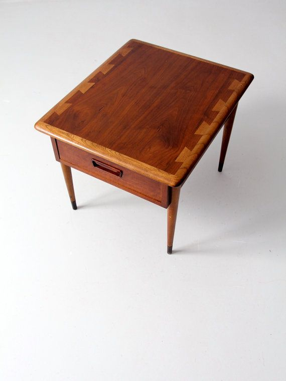 circa 1960 A midcentury Lane Acclaim commode table The small oak
