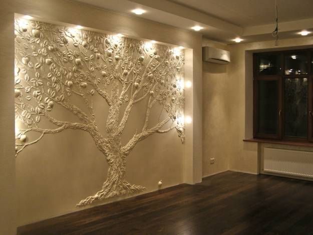 Creative ideas for modern wall decoration with small cracks and