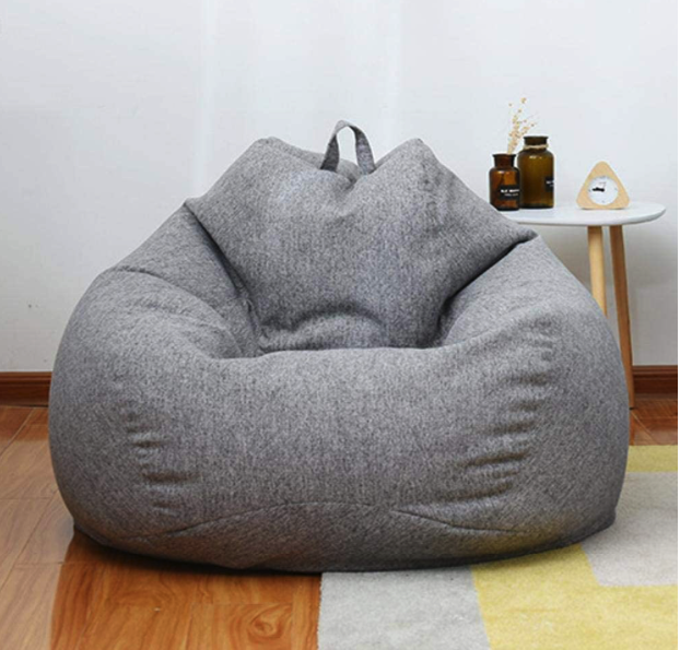 Gamers Beanbag Lazy Lounger Chair And Footrest In 2020 Bean Bag Chair Sofa Large Bean Bag Chairs Bean Bag Sofa