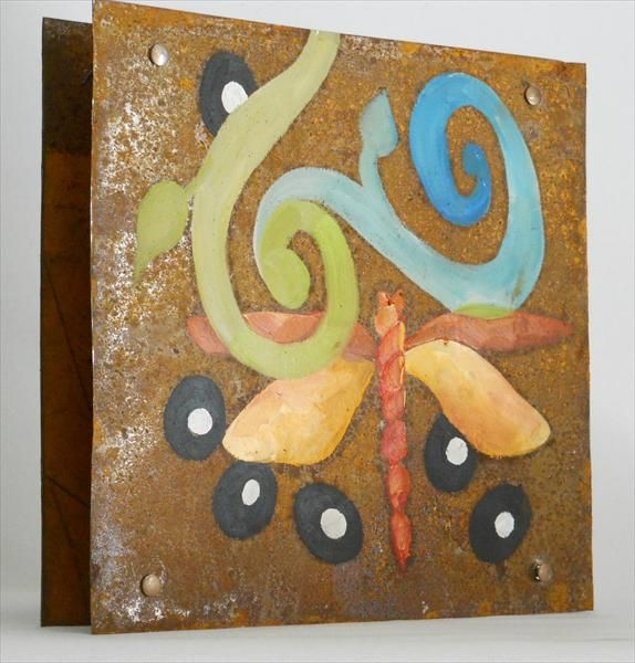 12 X 12 Rusted Metal Free standing art piece (first side) by M. Allison Art Metalworks