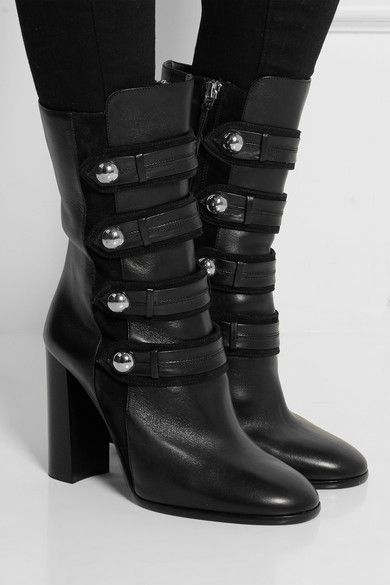 Isabel Marant Arnie Leather Mid-Calf Boots clearance ebay explore sale online Vfqywa3