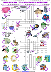Kitchen Vocabulary Esl Printable Worksheets And Exercises 교육
