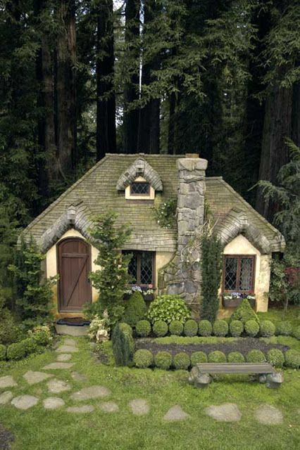 Aplaceimagined English Cottage Playhouse Cottage In The Woods Cute Cottage Storybook Cottage