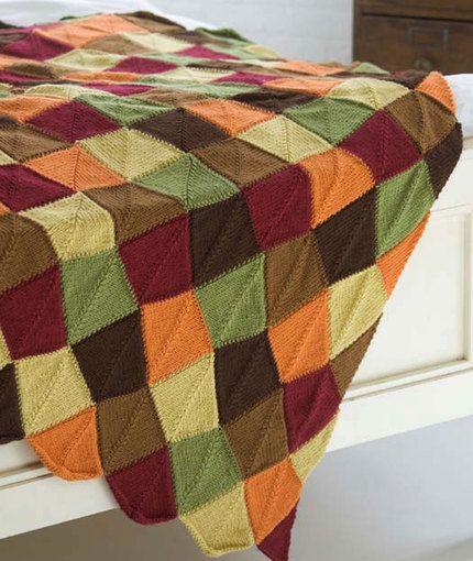 Falling Leaves Afghan Free Easy Knit Pattern Falling Leaves