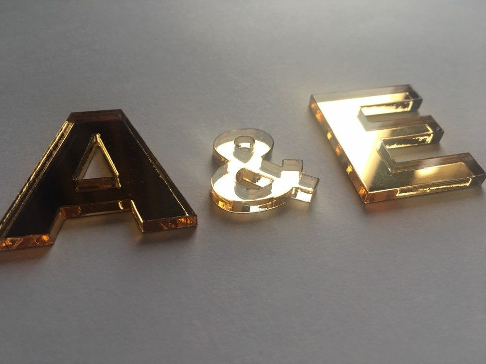 Mirrored Letters And Numbers Gold Acrylic Alphabet Letters Educational Letters Initials Acrylic Alphabet Mirror Sign Mirror Logo Mirror Letters Mirror Sign Mirror Logo