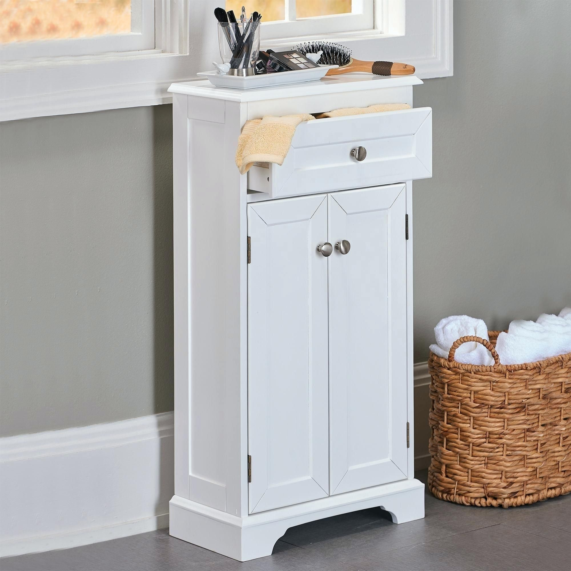 Slimline Bathroom Storage Tower | Bathroom Ideas | Pinterest ...
