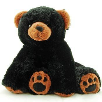 Super Soft Floppy Stuffed Black Bear Plush Toy With Weighted