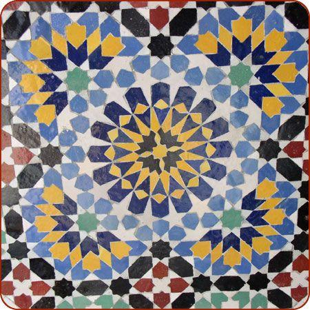 Fez Mosaic Tile Fountain In 60 Mosaics Pinterest Tiles Adorable Moroccan Design Pattern