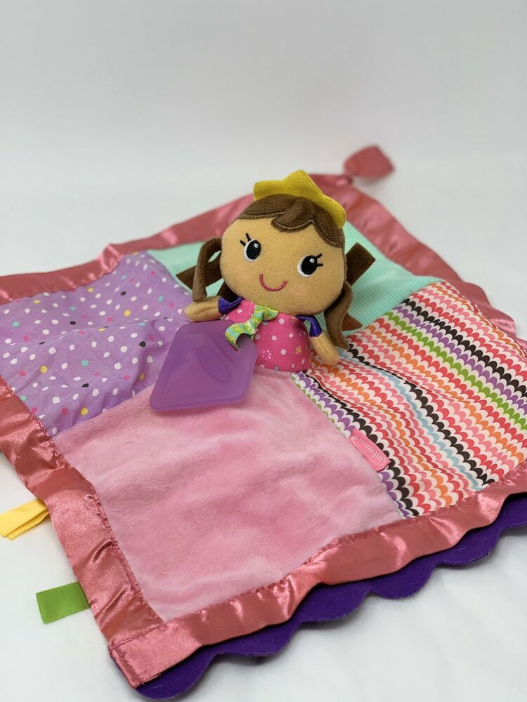 infantino Princess 12 Lovey Security Blanket Teether Soft Plush Doll Taggie #Infantino #securityblankets
