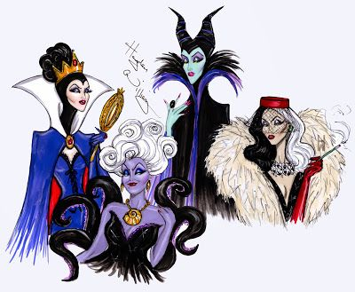 Hayden Williams Fashion Illustrations The Disney Villains Are Out - Artist brings disney villains to life in eerily realistic illustrations