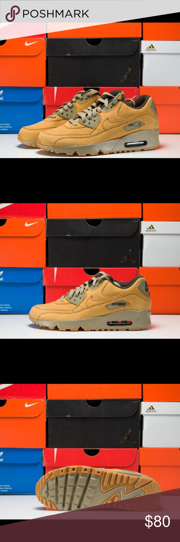 "new style 37b50 5289f Nike Air Max 90 Winter GS ""Wheat"" ( 888167-700 ) Nike Air Max 90 Winter GS  Size  7Y   8.5 Women s ( UK 6   EUR 40 ) Color  Bronze   Bronze - Baroque  Brown ..."