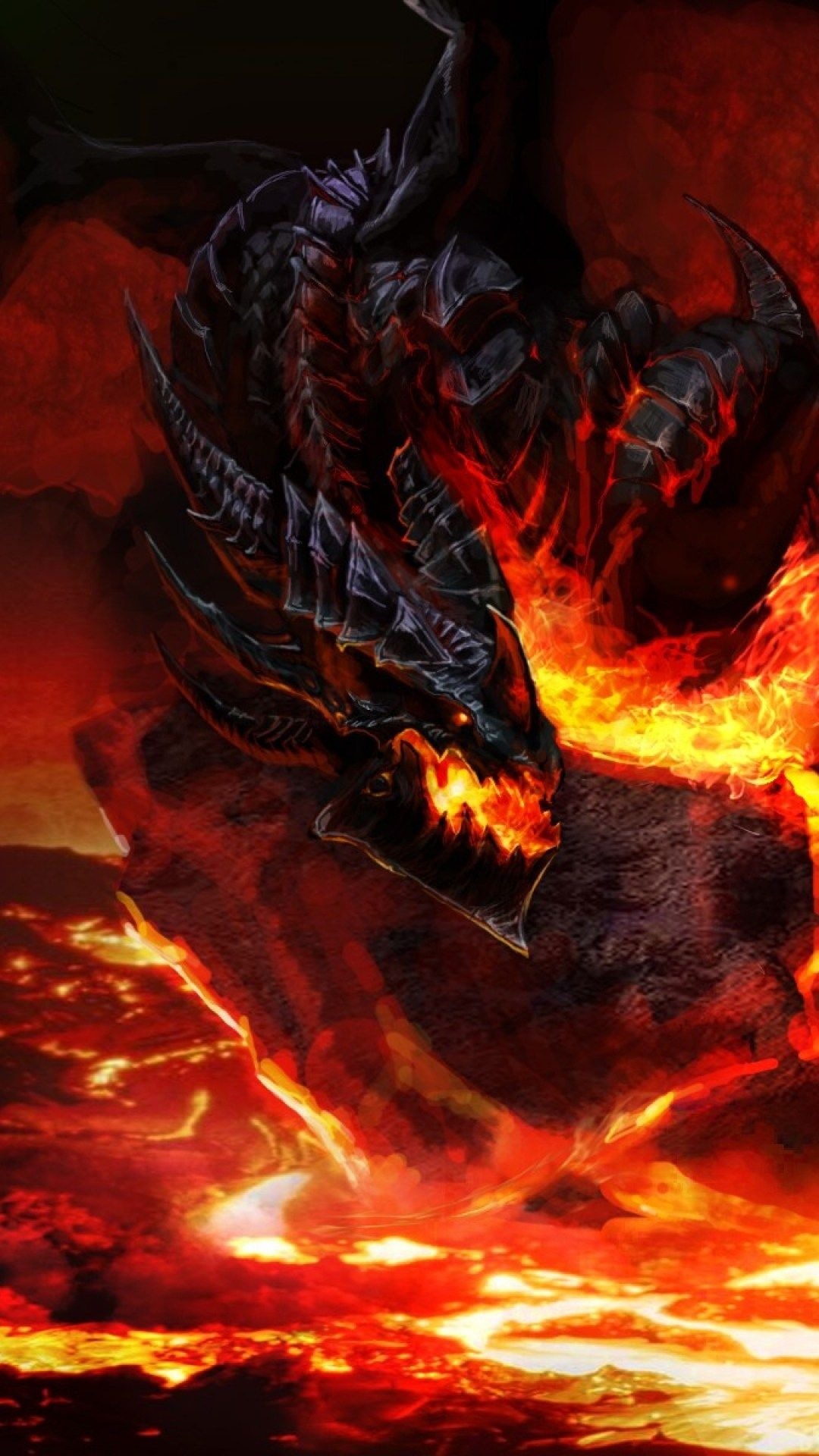Wow Wallpaper For Iphone 6 In 2019 Fire Dragon Dragon