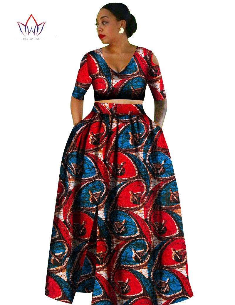 fb2d82fb8ed1a Women african Tradition 2 Piece Plus Size Africa Clothing Fashion Designs  Dashiki african wax prints for women clothing WY861