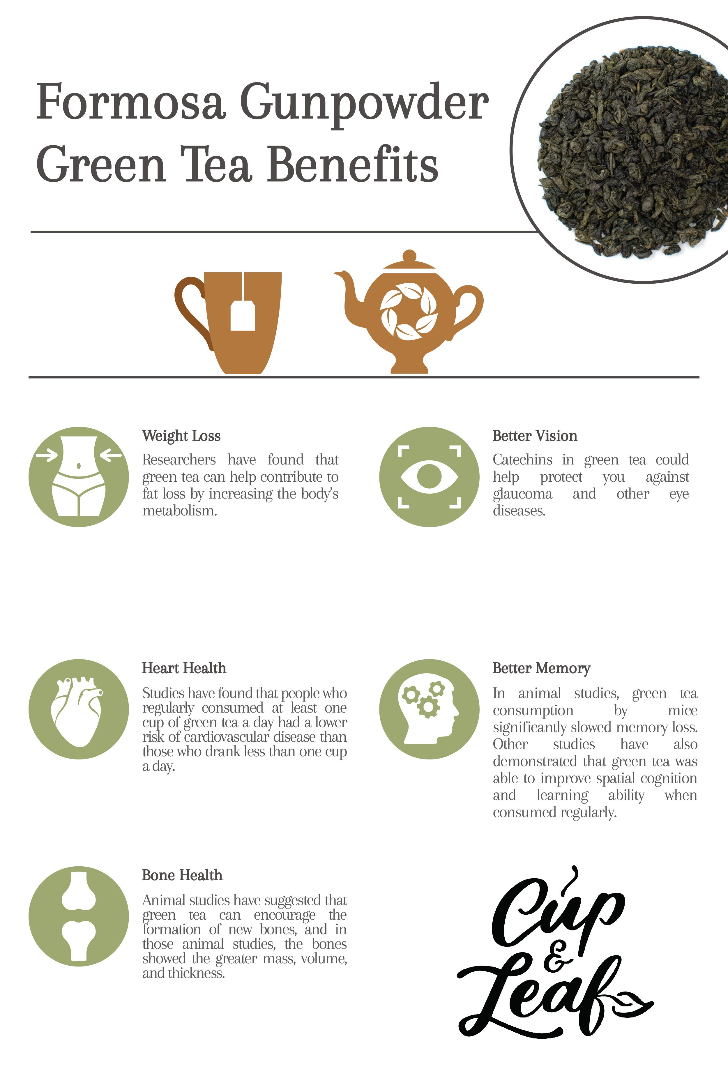 gunpowder green tea | green tea benefits, gunpowder green