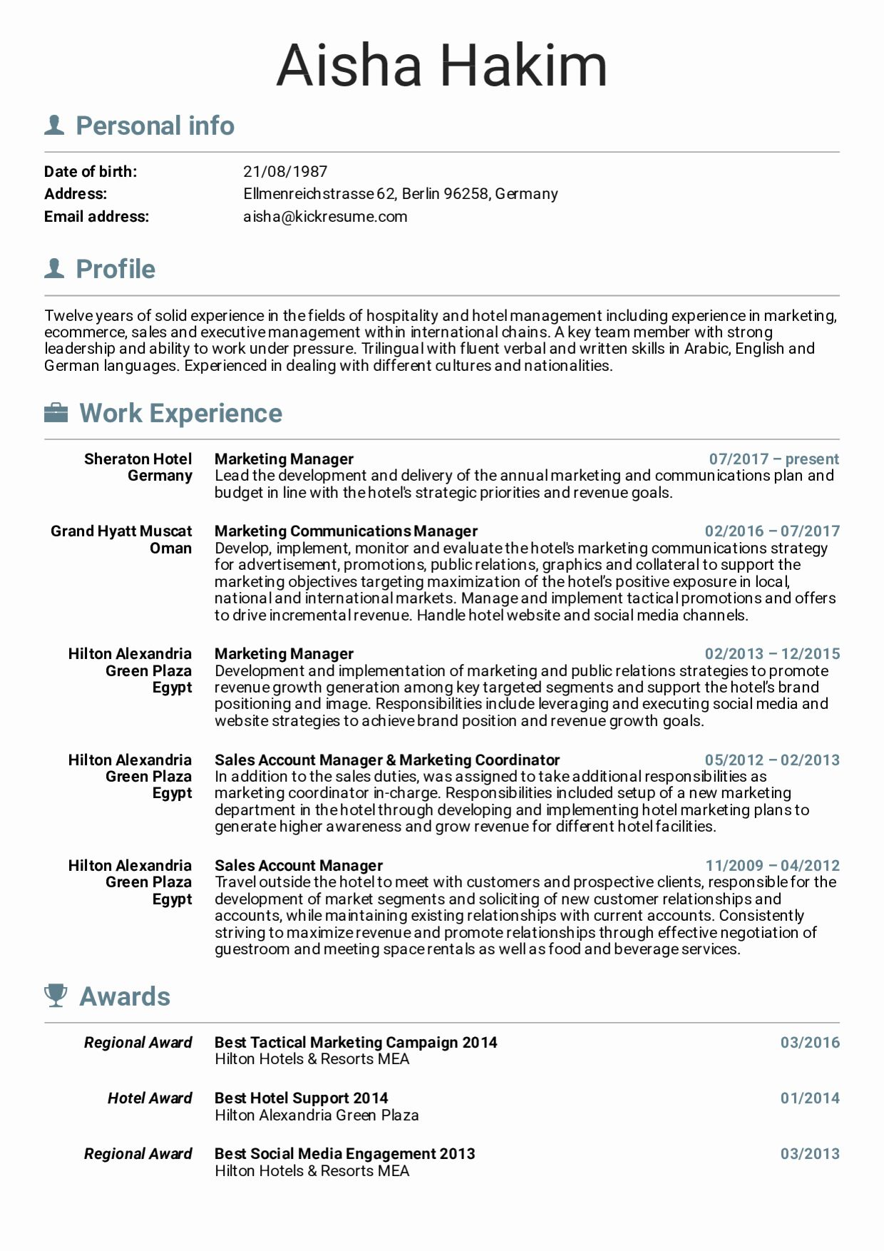20 Google Product Manager Resume in 2020 (With images