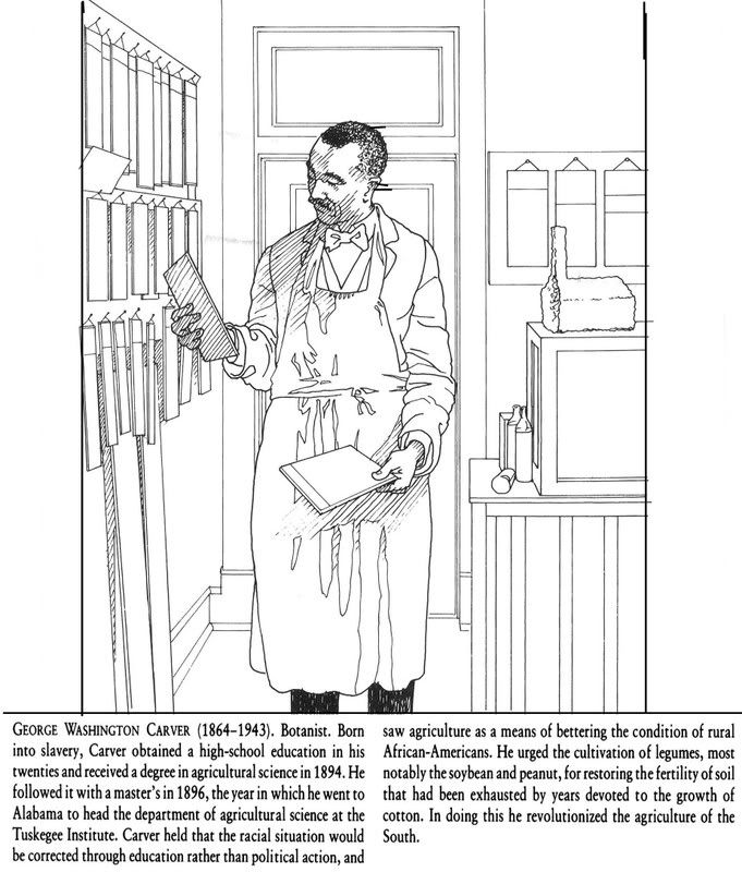 black history coloring pages george washington carver and elijah mccoy
