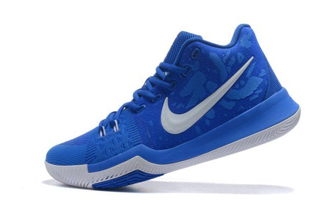 591754f0c6332 Top Quality Nike Kyrie 3 EP III Irving Flyknit Royal Blue White Men s  Basketball Shoes Sneakers