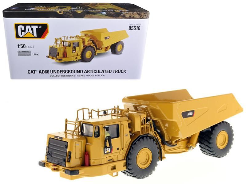 Cat Caterpillar Ad60 Articulated Underground Truck With Oator High Line Series 1 50 Diecast Model By Diecast Masters In 2020 Diecast Models Diecast Trucks