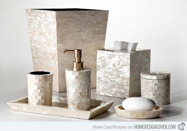 Wooden Bathroom Accessories Set