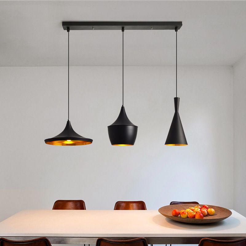 Matte Black 3 Pendant Ceiling Light Modern Dinning Room Island Lig In 2021 Dinning Room Light Fixture Industrial Dining Room Lighting Wooden Light Fixtures