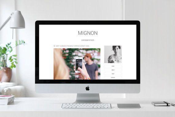 Vorgefertigten Blogger-Vorlagen / Mignon / Minimalist Fashion Blog ...