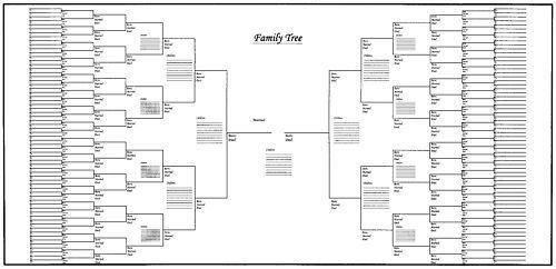 25 pack of large family tree charts 48 x 24 diy ideas family