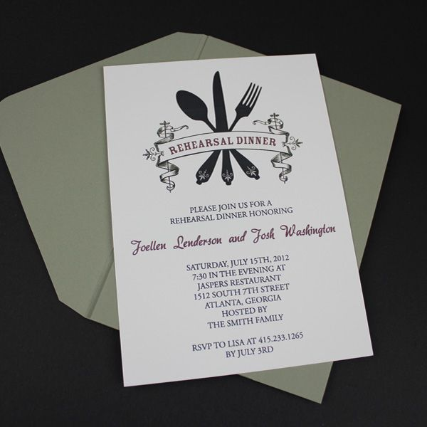 Invitation Template u2013 Casual Rehearsal Dinner Rehearsal dinners - dinner invitation template