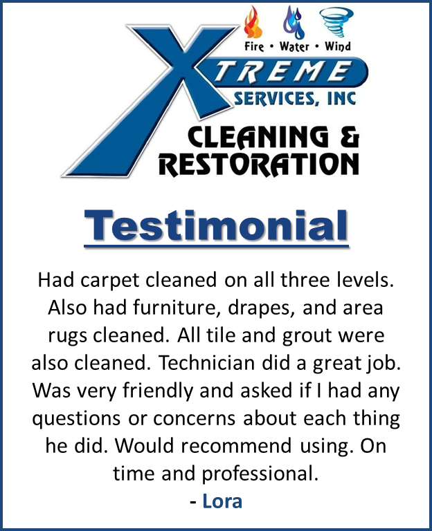 A nice testimonial from a happy customer! Xtreme Services